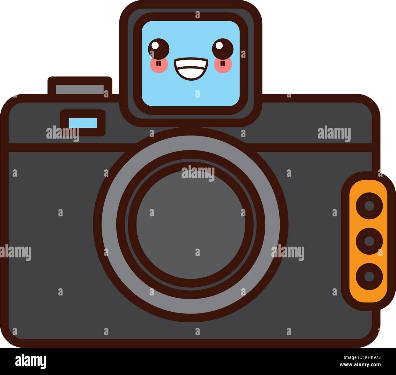 Vintage Photographic Camera Kawaii Cute Cartoon