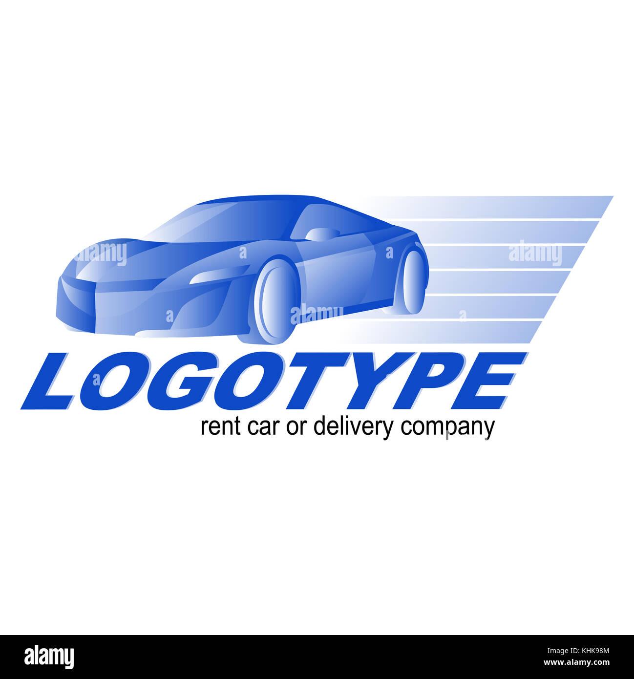 Car rent, repair or delivery service label. Vector logo design Stock ...