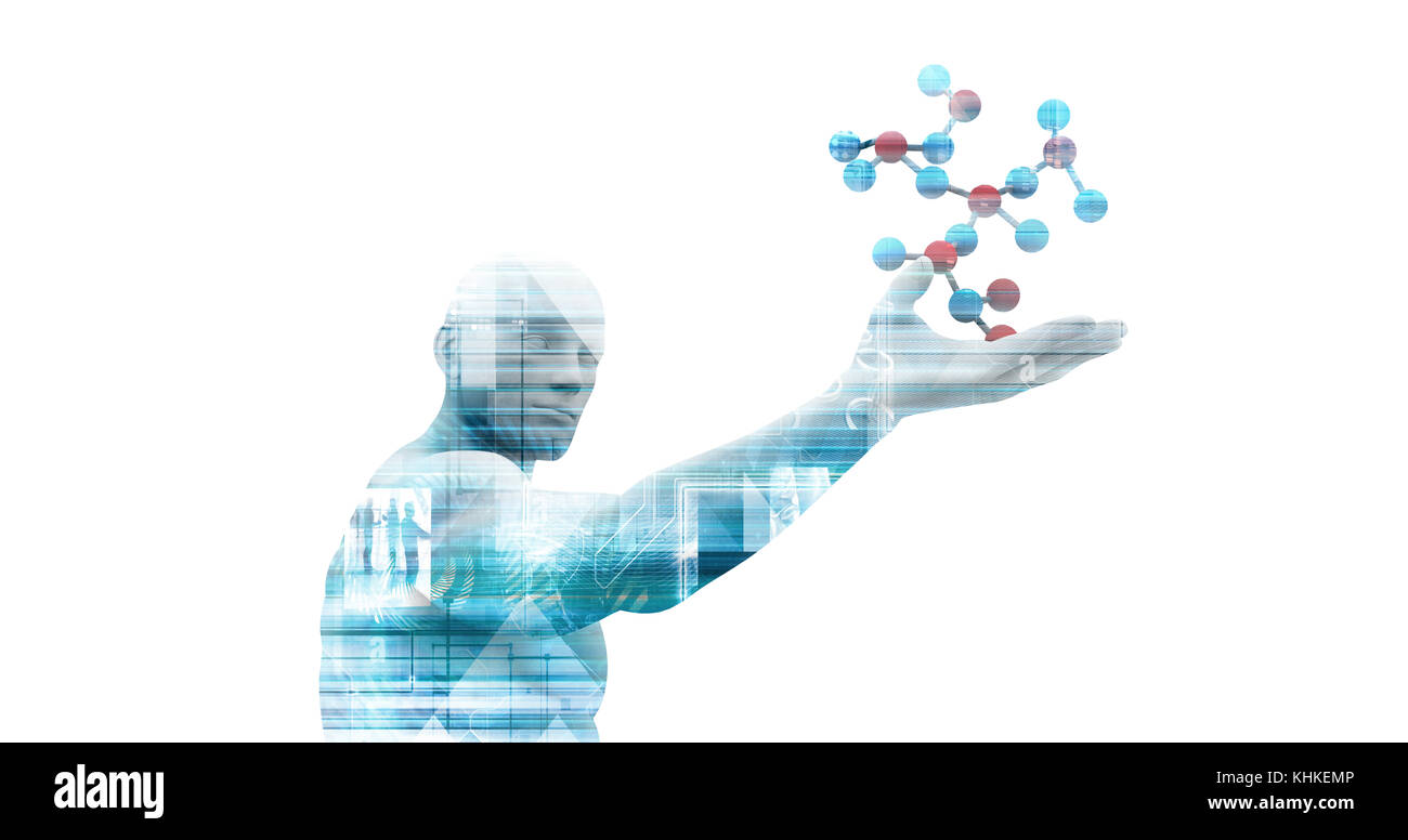 Research and Development Science Illustration as a Art - Stock Image