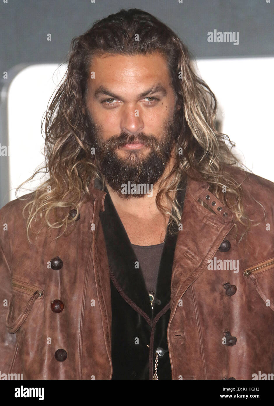 Nov 04, 2017 - Jason Momoa attending 'Justice League' Photocall, The College, Southampton Row in London, - Stock Image
