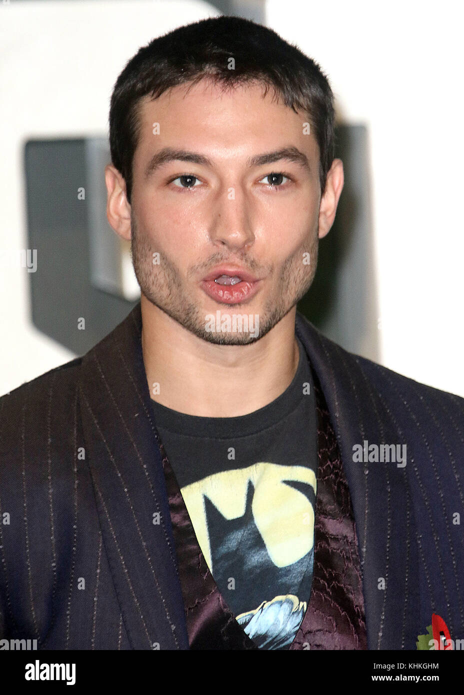 Nov 04, 2017 - Ezra Miller attending 'Justice League' Photocall, The College, Southampton Row in London, - Stock Image