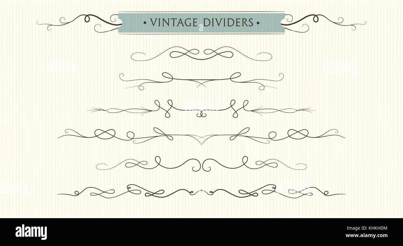 Vector hand drawn flourishes dividers graphic lovely design vector hand drawn flourishes dividers graphic lovely design element set cute vintage borders wedding invitation cards page decoration calligraph stopboris Images