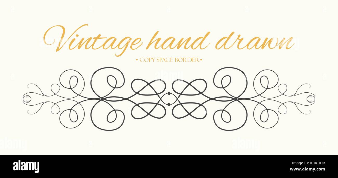 Vector hand drawn flourishes text divider graphic design element vector hand drawn flourishes text divider graphic design element cute designer vintage border wedding invitation card page decoration calligraph stopboris Image collections