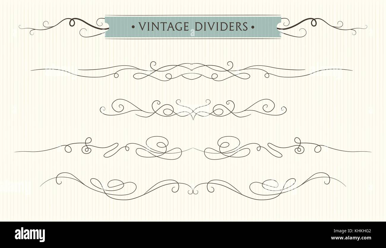 vector hand drawn flourishes text divider graphic design element stock vector art. Black Bedroom Furniture Sets. Home Design Ideas