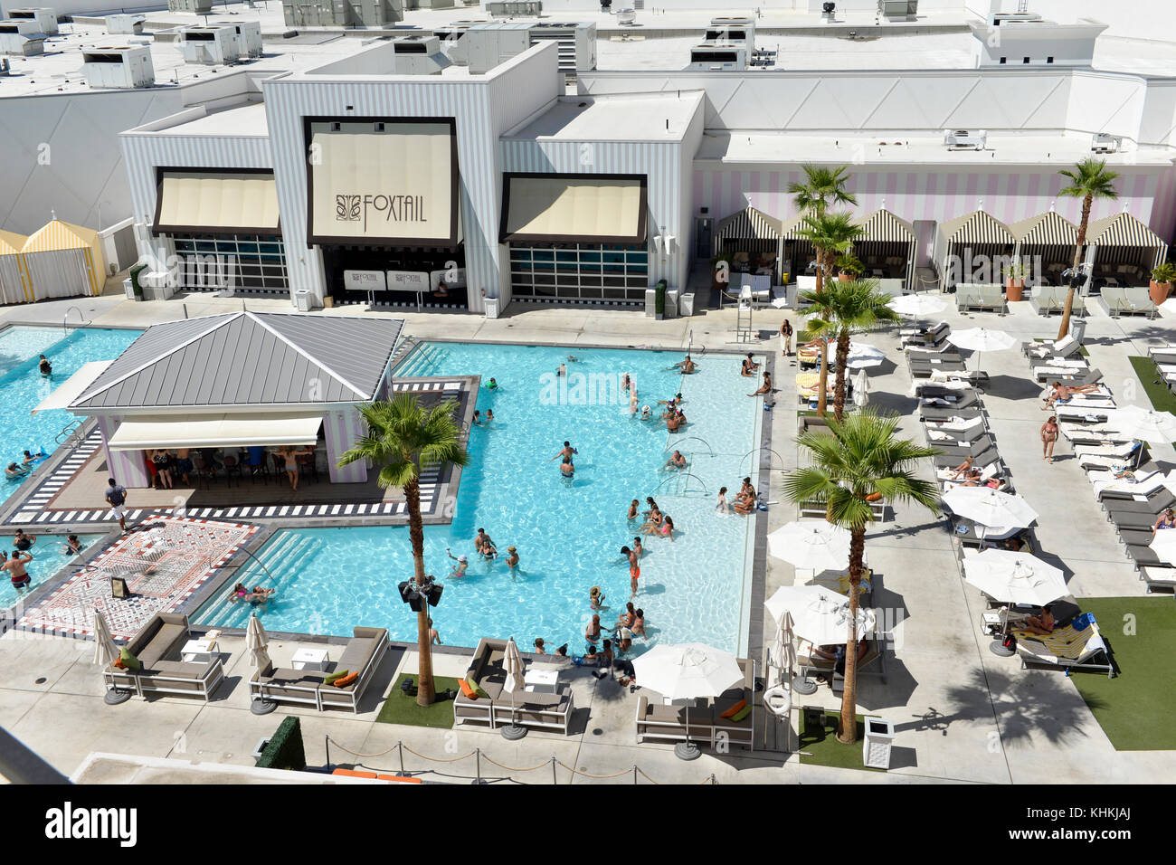 Swimming pool aerial view stock photos swimming pool aerial view stock images alamy for Las vegas swimming pools open to public