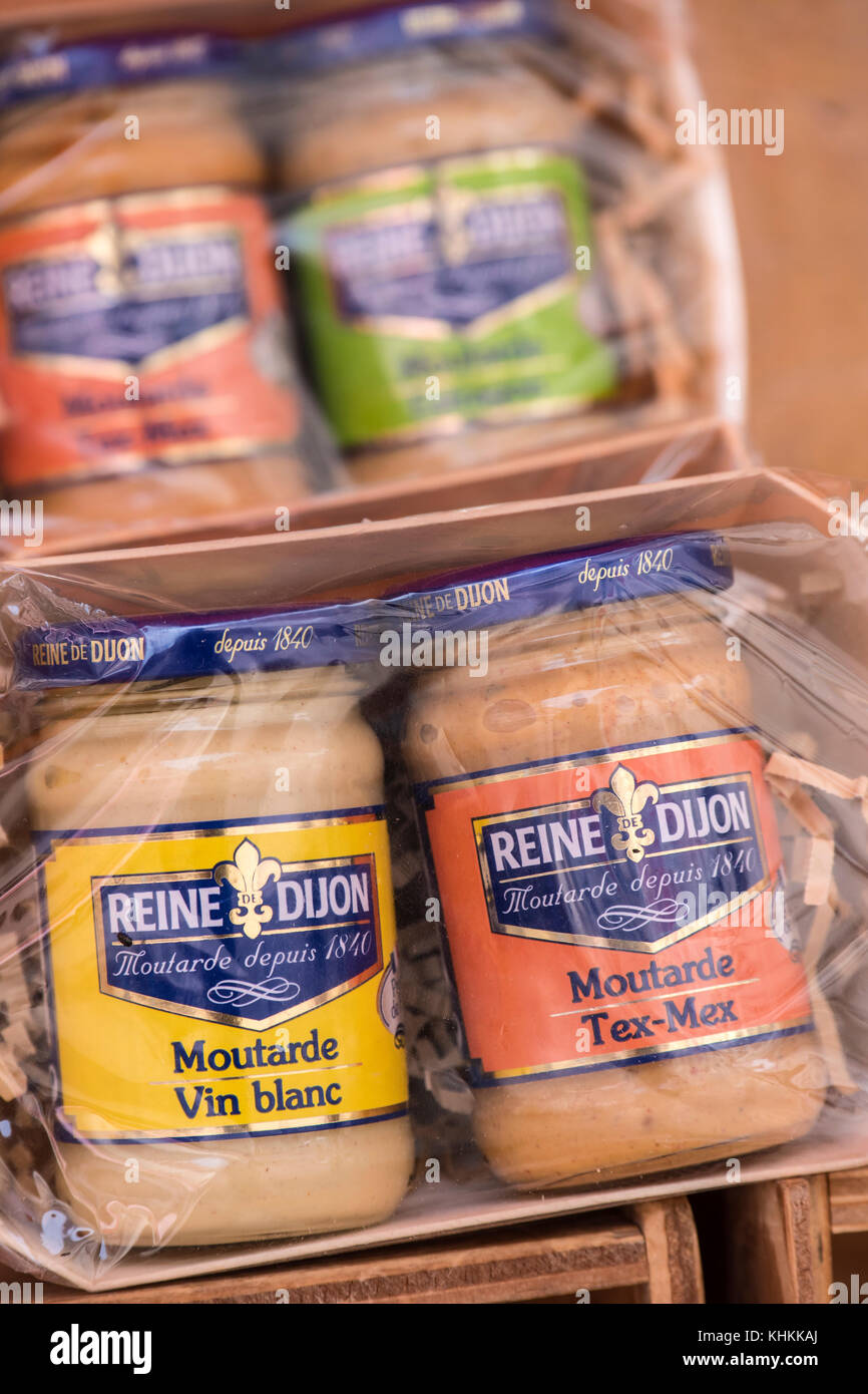 Local produce Dijon Cote-d'Or  Bourgogne-Franche-Comté France Stock Photo