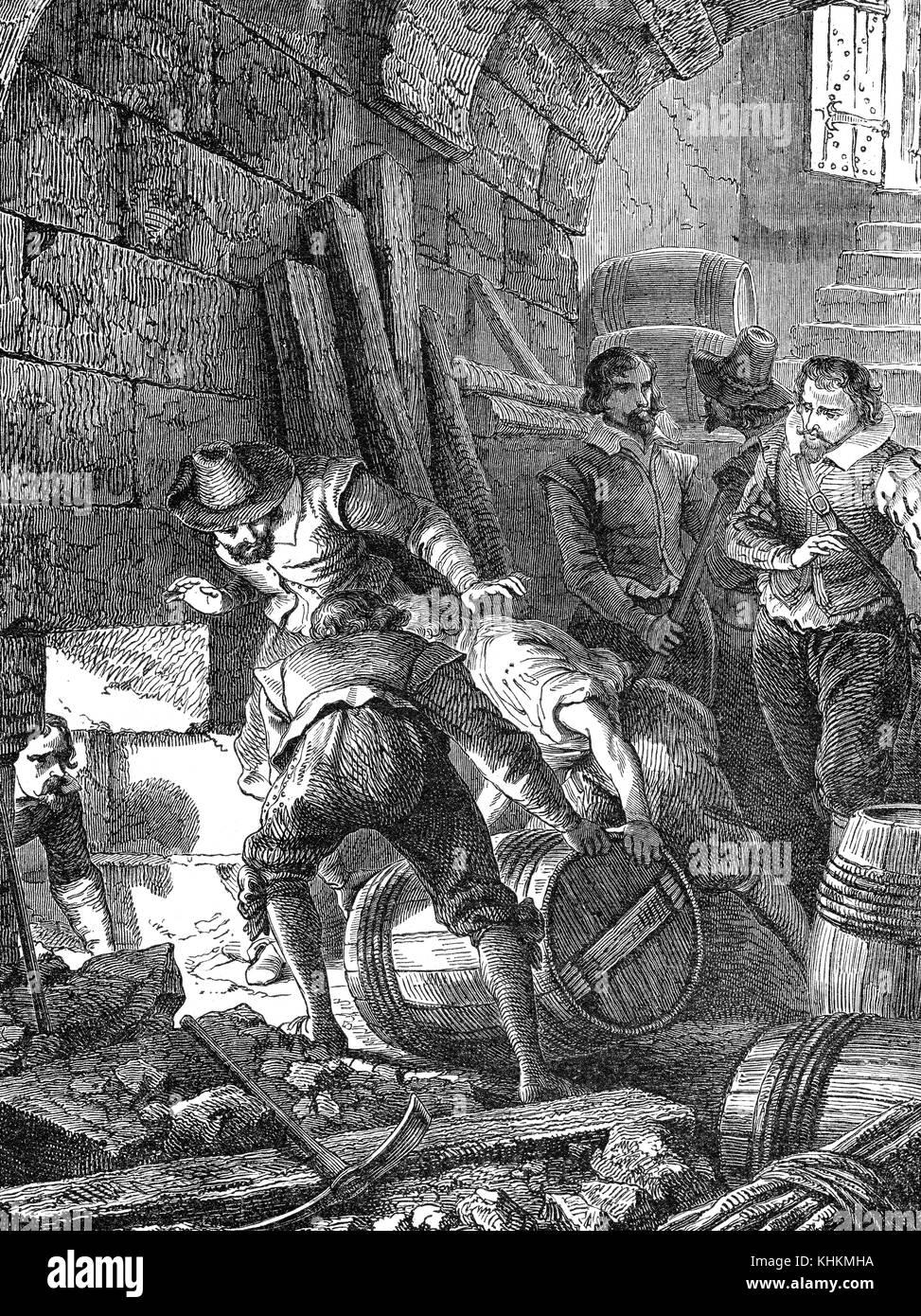 The Gunpowder Plot of 1605 - Stock Image
