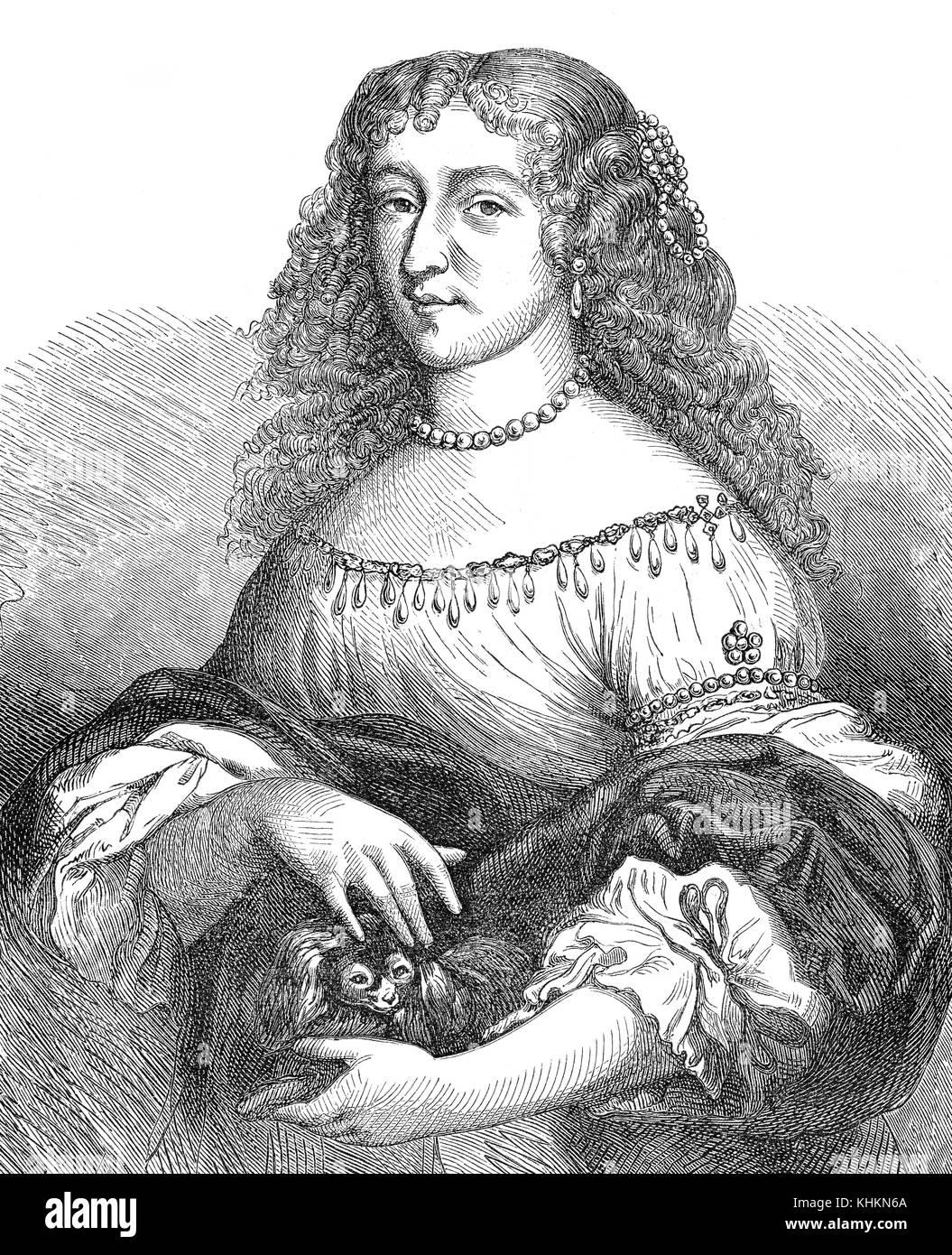 Christina or Kristina of Sweden, 1626 - 1689, Queen of Sweden - Stock Image