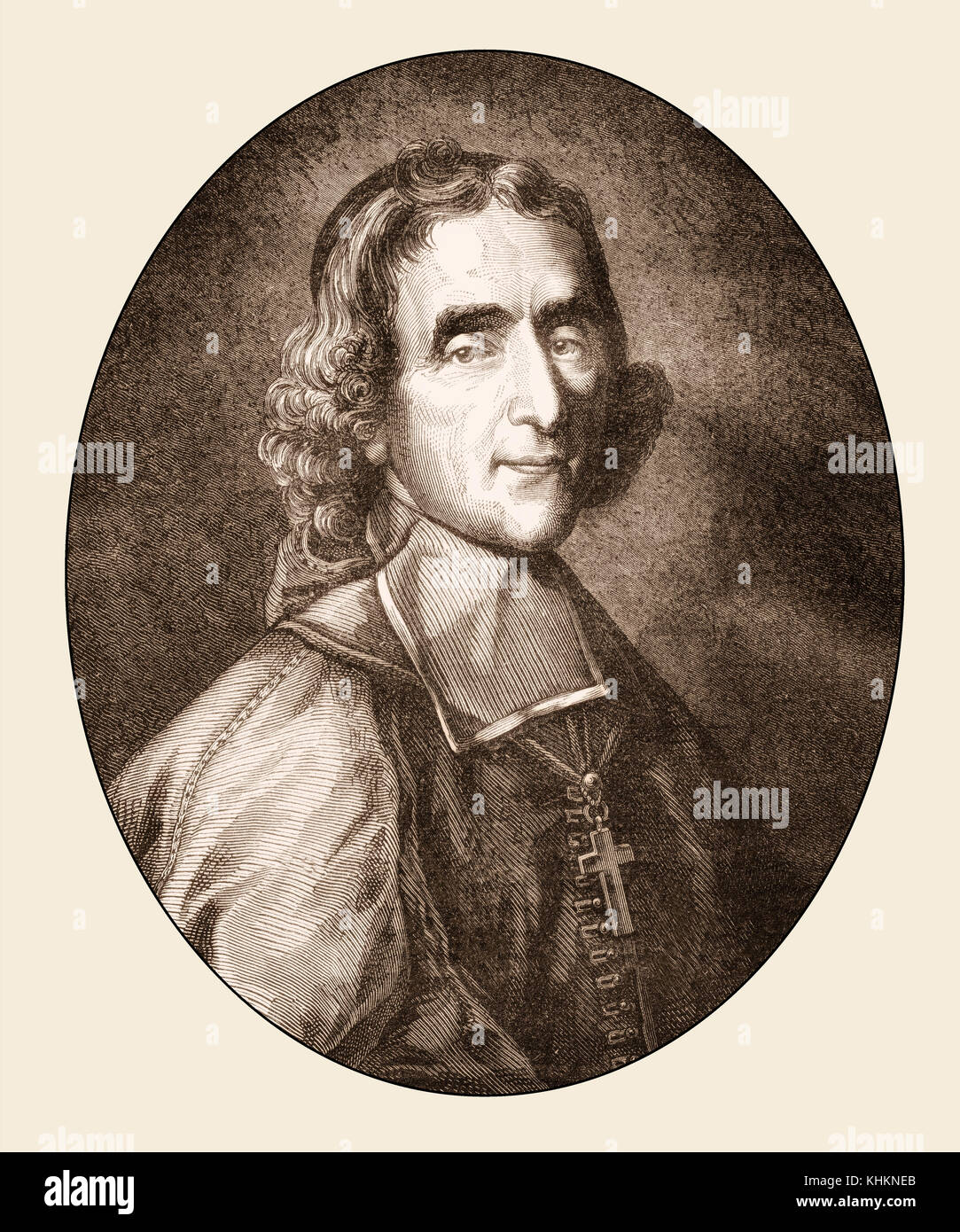 François de Salignac de La Mothe-Fénelon, 1651 - 1715, a French archbishop and writer - Stock Image