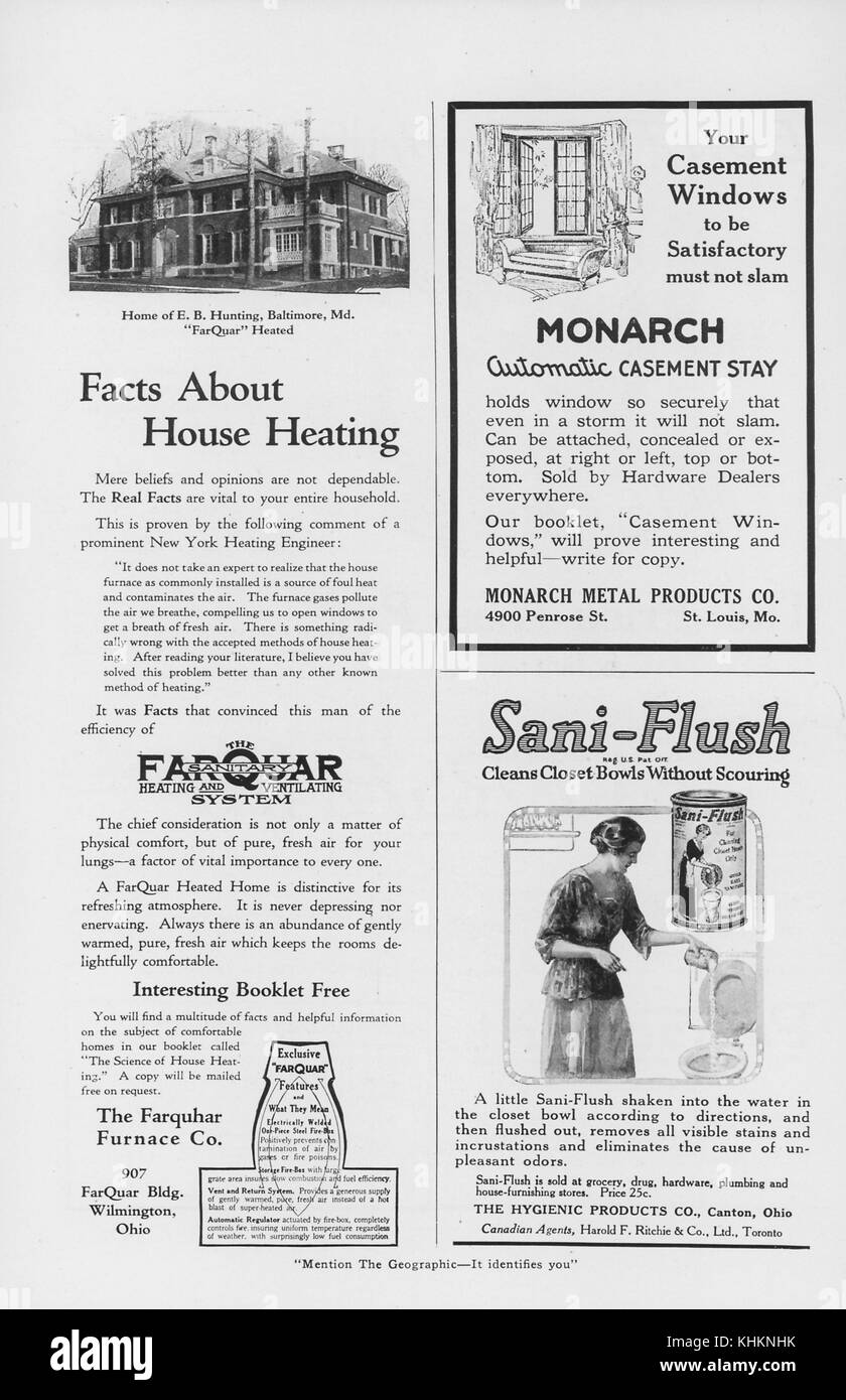 A Magazine Layout Featuring Three Advertisements The Half Page Ad Is For Heating System
