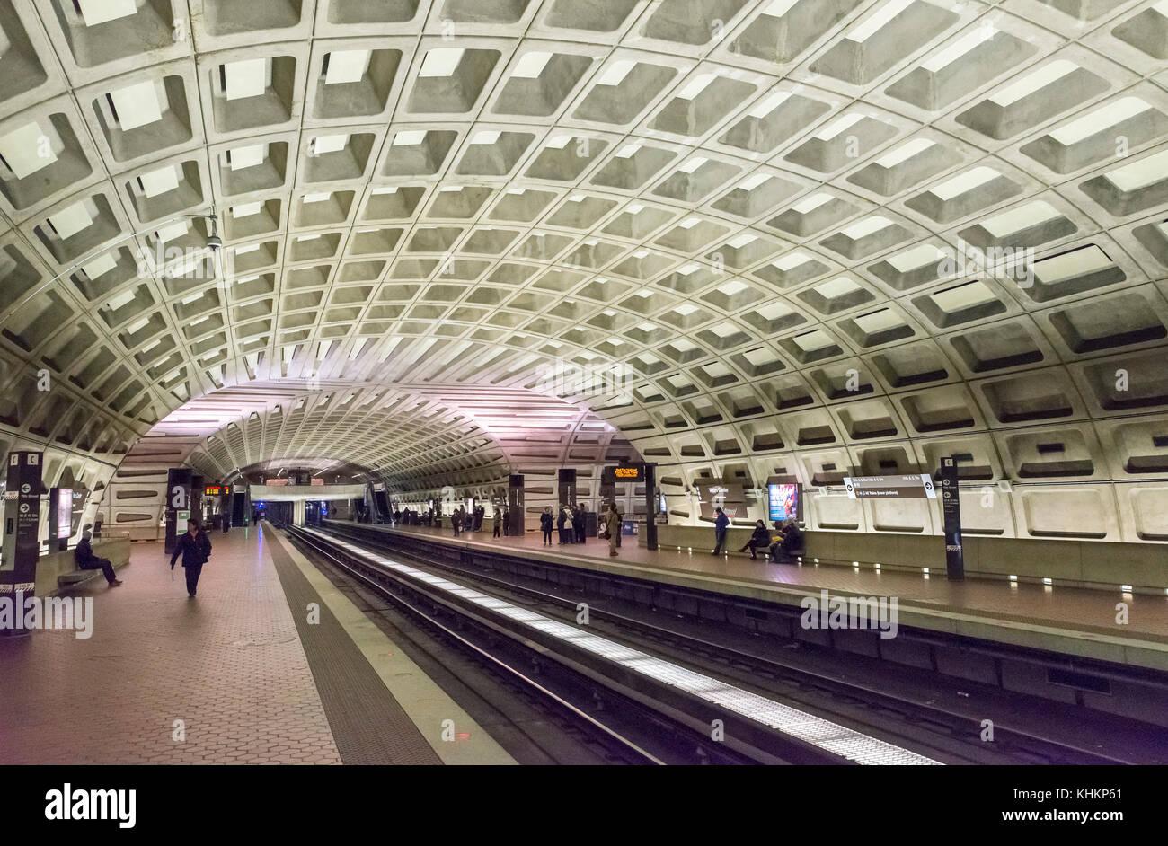 Metro Center subway station, Washington DC, USA - Stock Image
