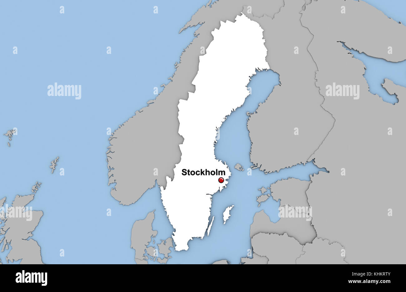 Map Of Sweden Stock Photos Map Of Sweden Stock Images Alamy