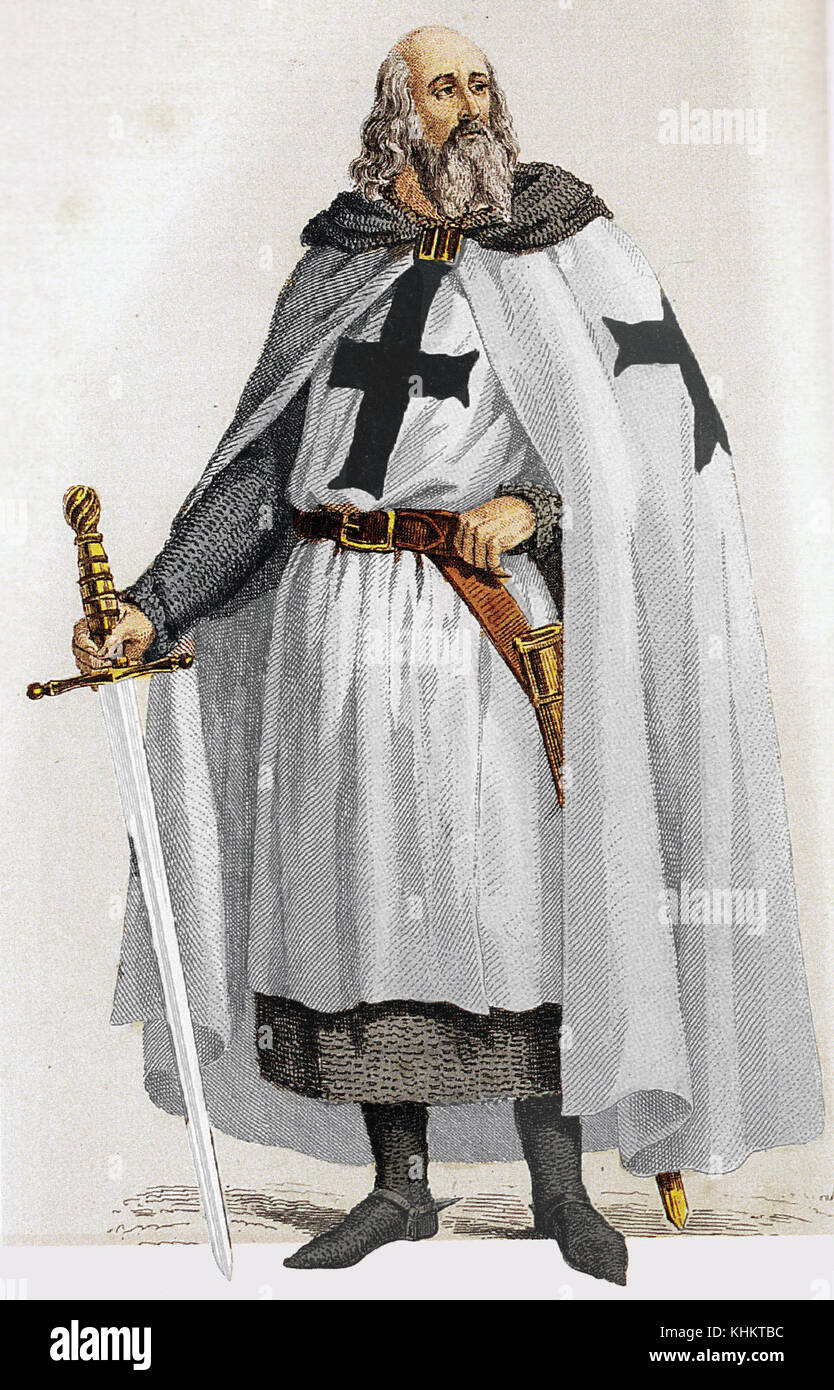 JACQUES de MOLAY (c 1243-1314) last Grand Master of the Knights Templar. - Stock Image