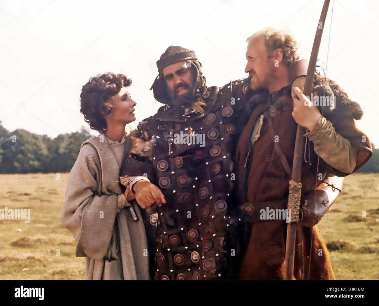 ROBIN AND MARIAN 1976 Columbia Pictures film with from left: Audrey Hepburn, Sean Connery, Nicol Williamson - Stock Image