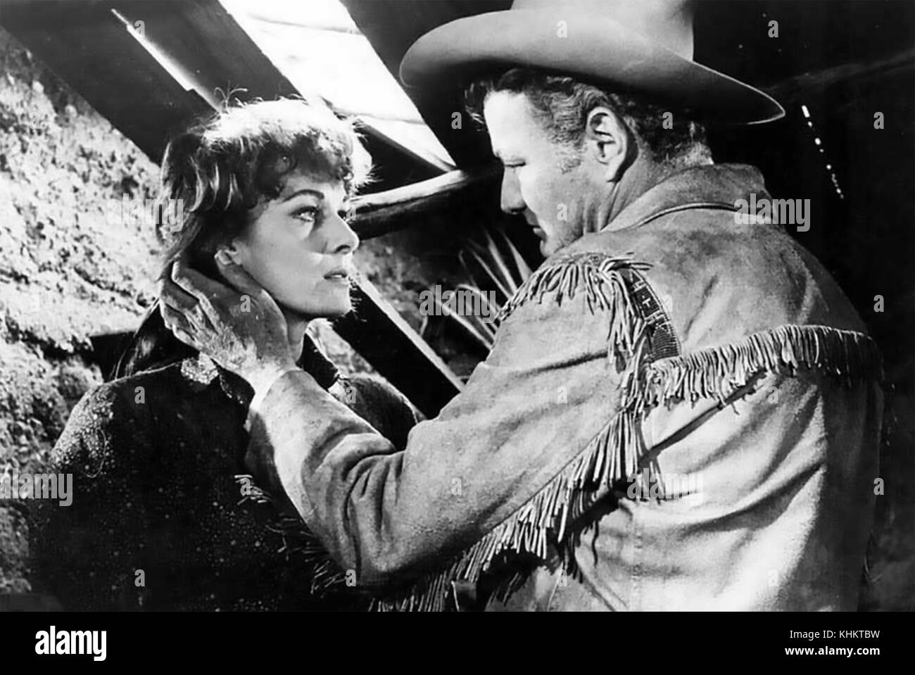 THE DEADLY COMPANIONS 1961 Pathe America film with Maureen O'Hara and Brian Keith - Stock Image