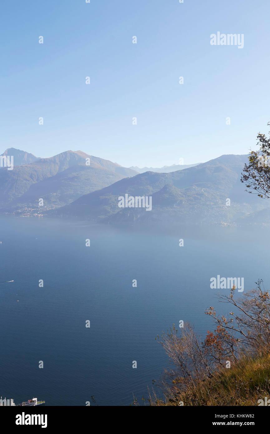 Lake Como (Lago di Como), Province of Lecco Lombardy, Italy. - Stock Image
