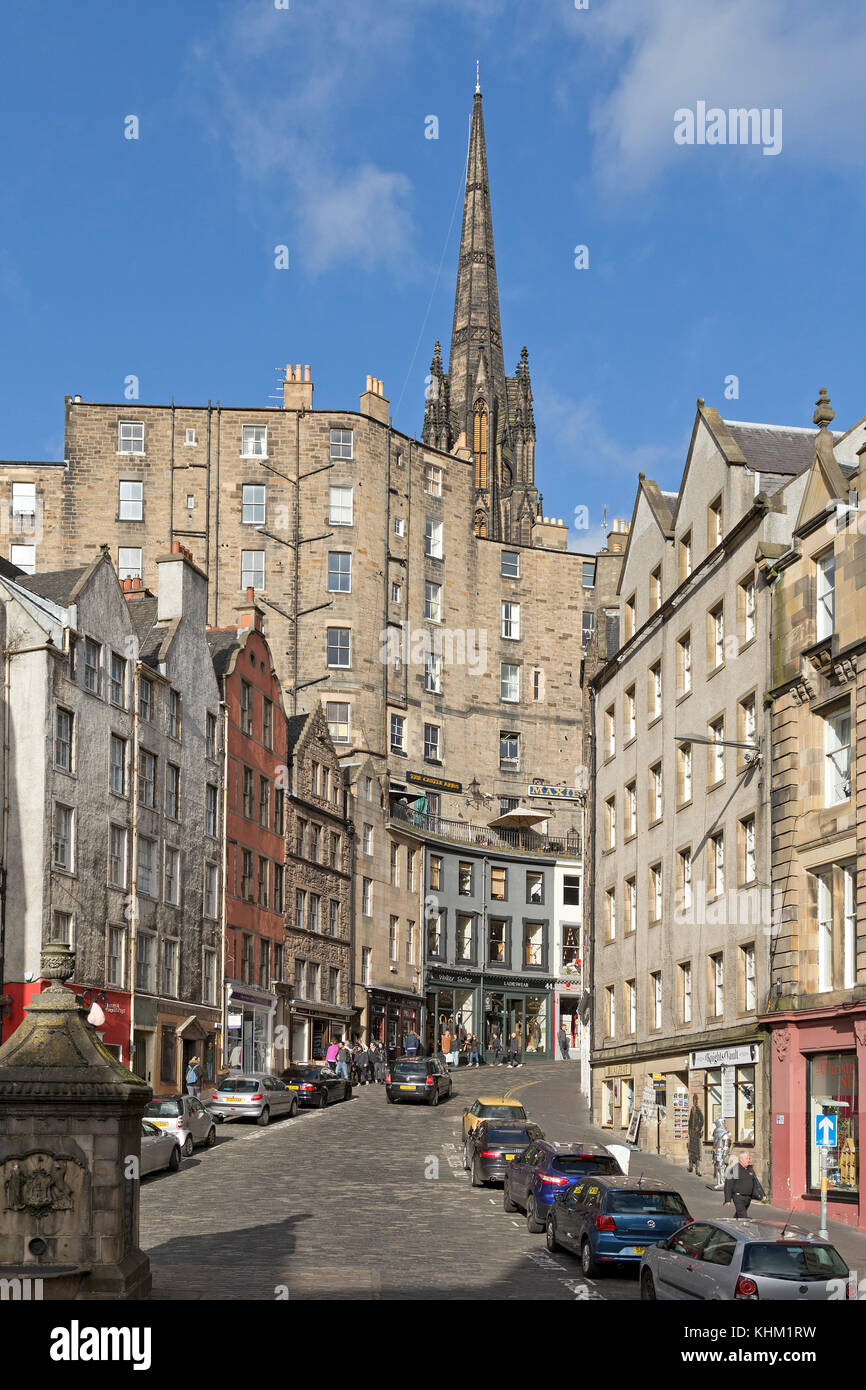 W Bow, Edinburgh, Scotland, Great Britain - Stock Image