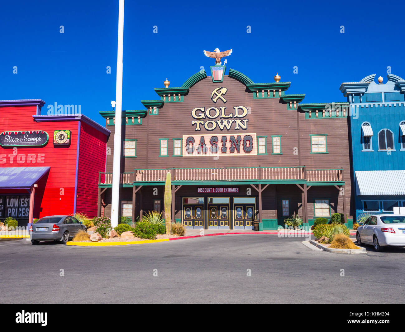 Histroic saloon building and casino in Pahrump Nevada - PAHRUMP / NEVADA - OCTOBER 23, 2017 - Stock Image