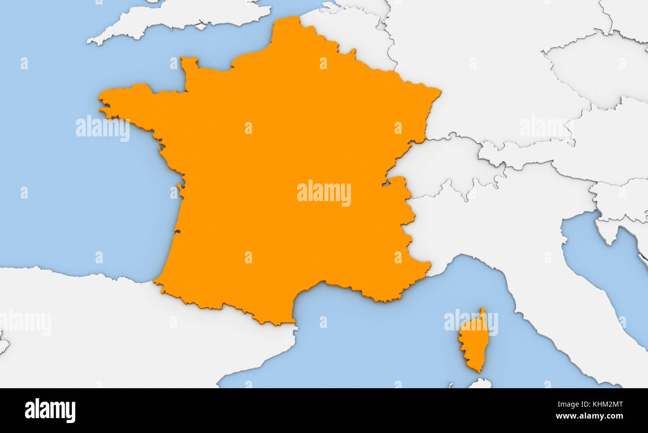 France map 3d stock photos france map 3d stock images alamy 3d render of abstract map of france highlighted in orange color stock image gumiabroncs Choice Image