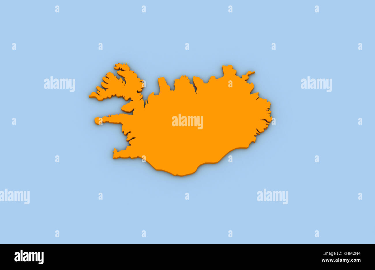 Map of iceland stock photos map of iceland stock images alamy 3d render of abstract map of iceland highlighted in orange color stock image gumiabroncs Gallery
