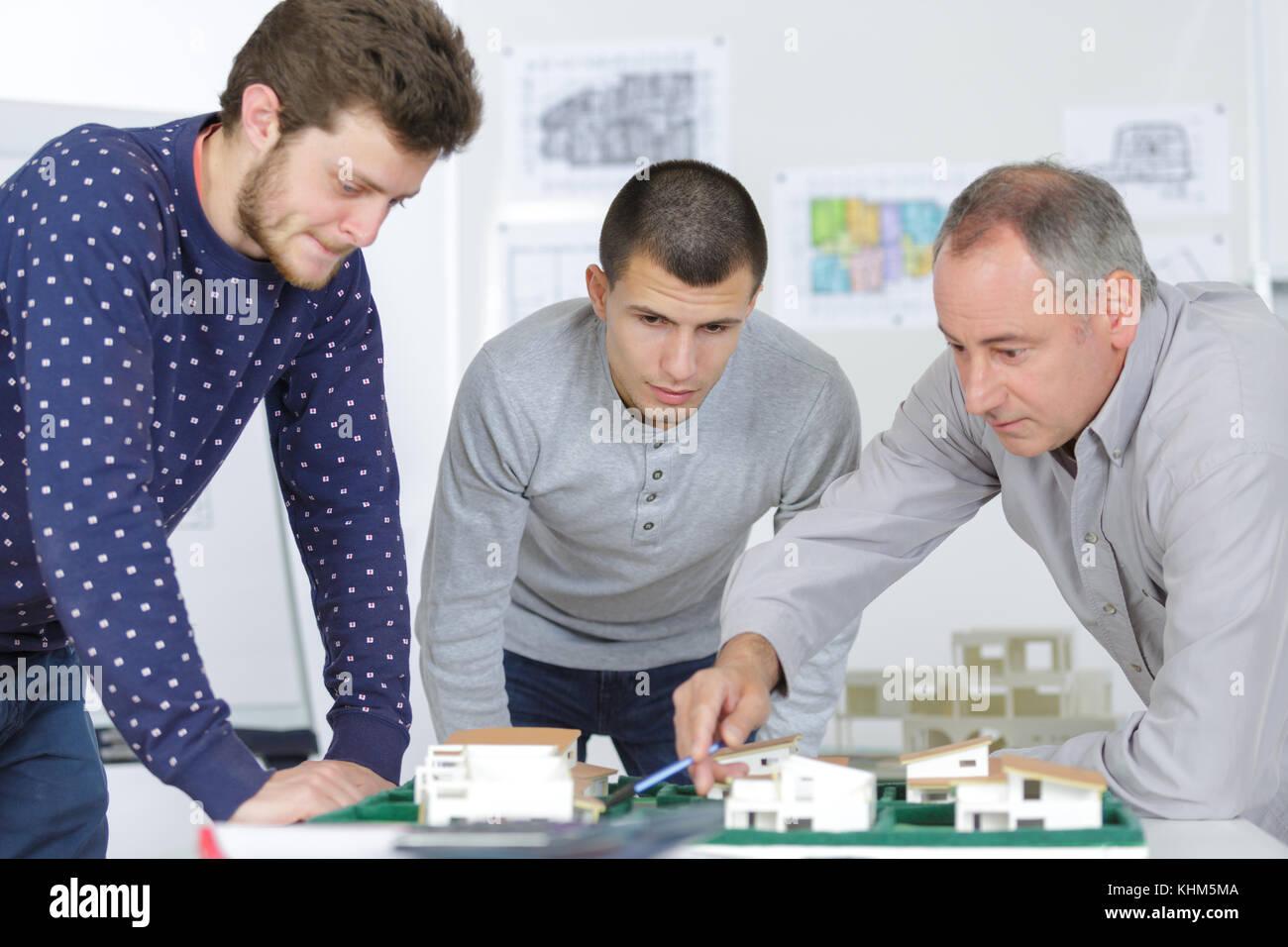 making house models - Stock Image