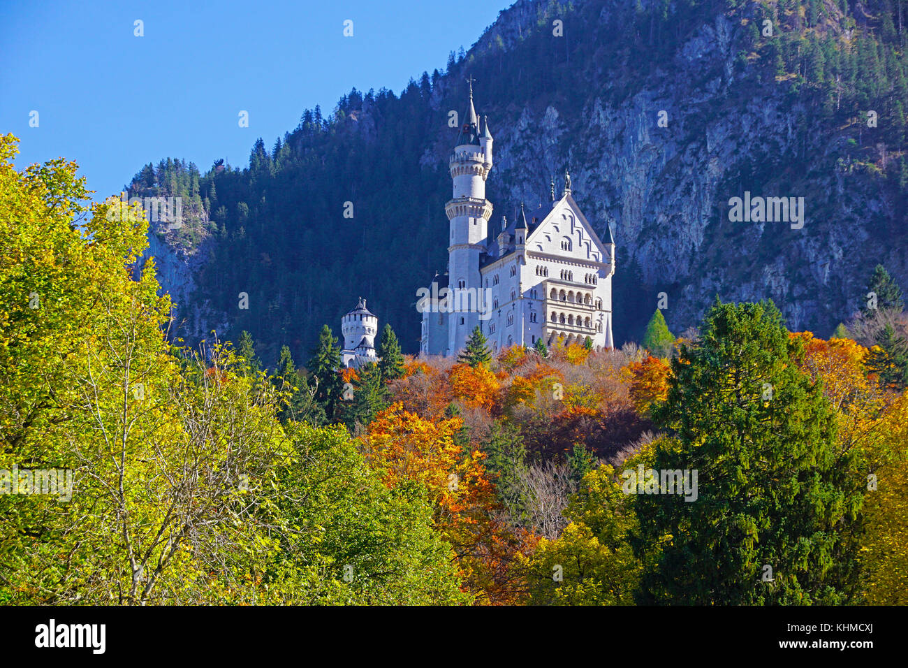 Mad King Ludwig's Neuschwanstein Castle - Stock Image