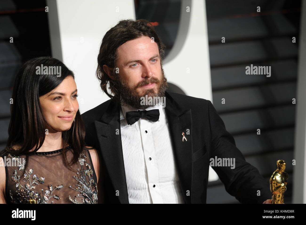 BEVERLY HILLS, CA - FEBRUARY 26: Summer Phoenix, Casey Affleck attends the 2017 Vanity Fair Oscar Party hosted by - Stock Image