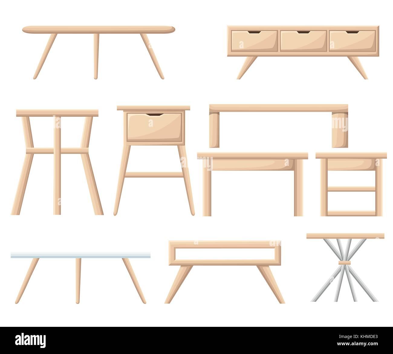 a52dec2f577 Interior furniture set. Bedroom furniture  bedside table