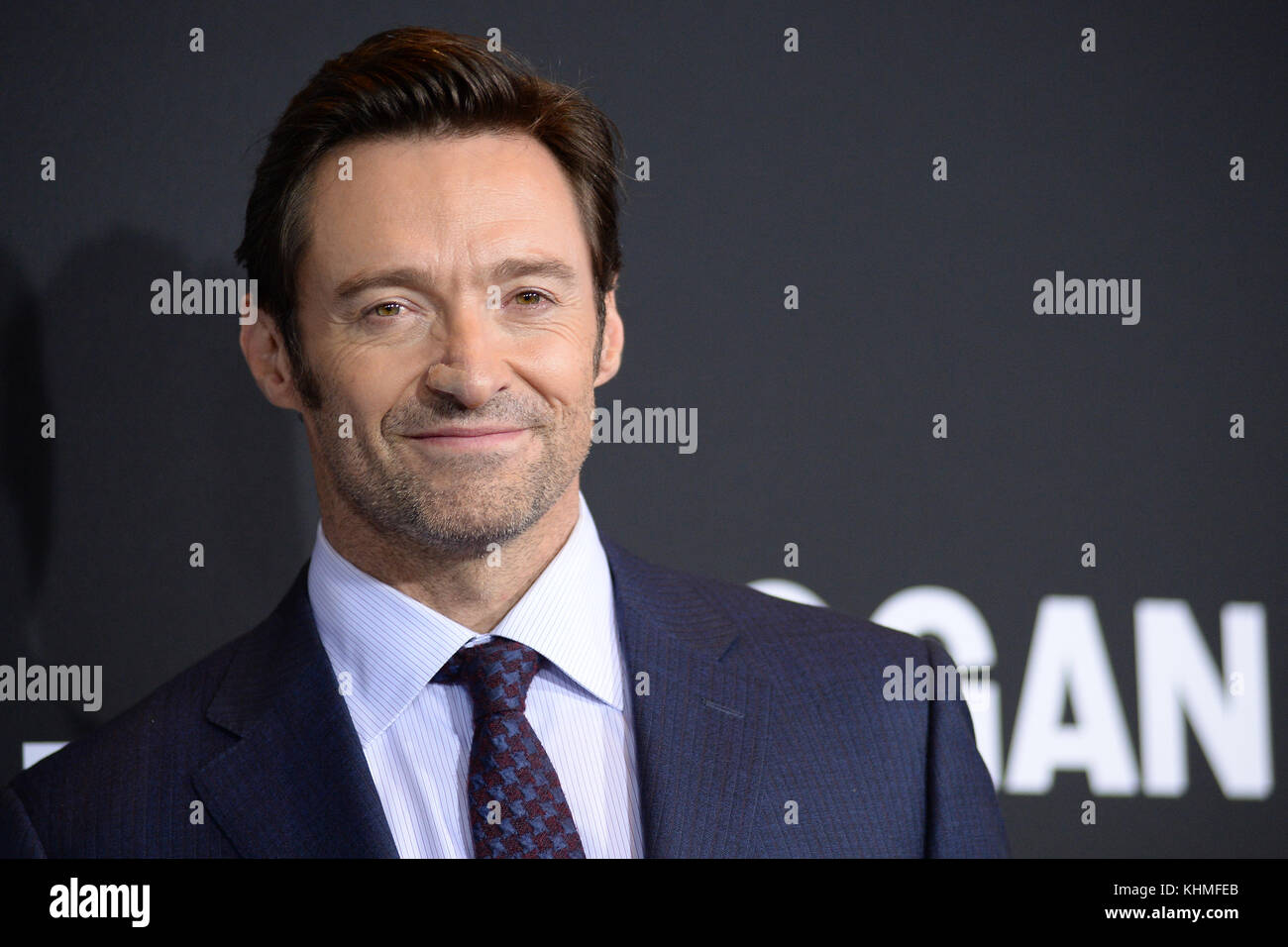 NEW YORK, NY - FEBRUARY 25:  Hugh Jackman  attends the 'Logan' New York screening at Rose Theater, Jazz - Stock Image