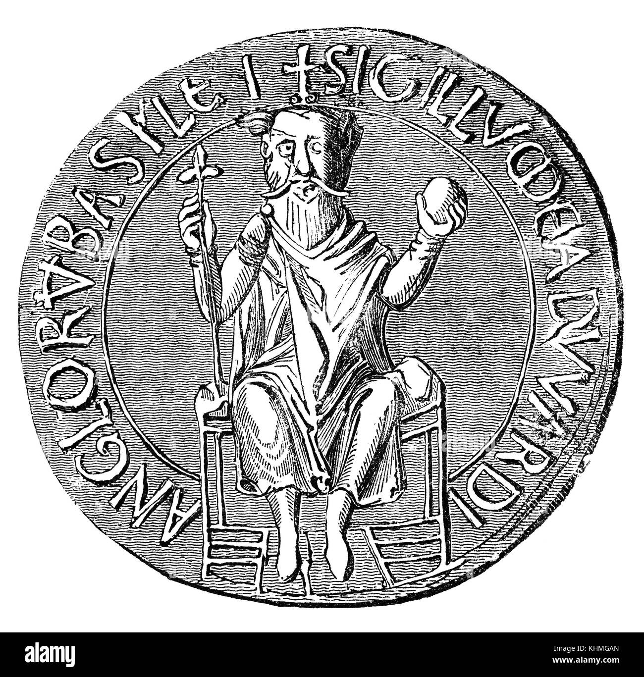 The Great Seal of Edward the Confessor  used to symbolise the Sovereign's approval of important state documents. - Stock Image