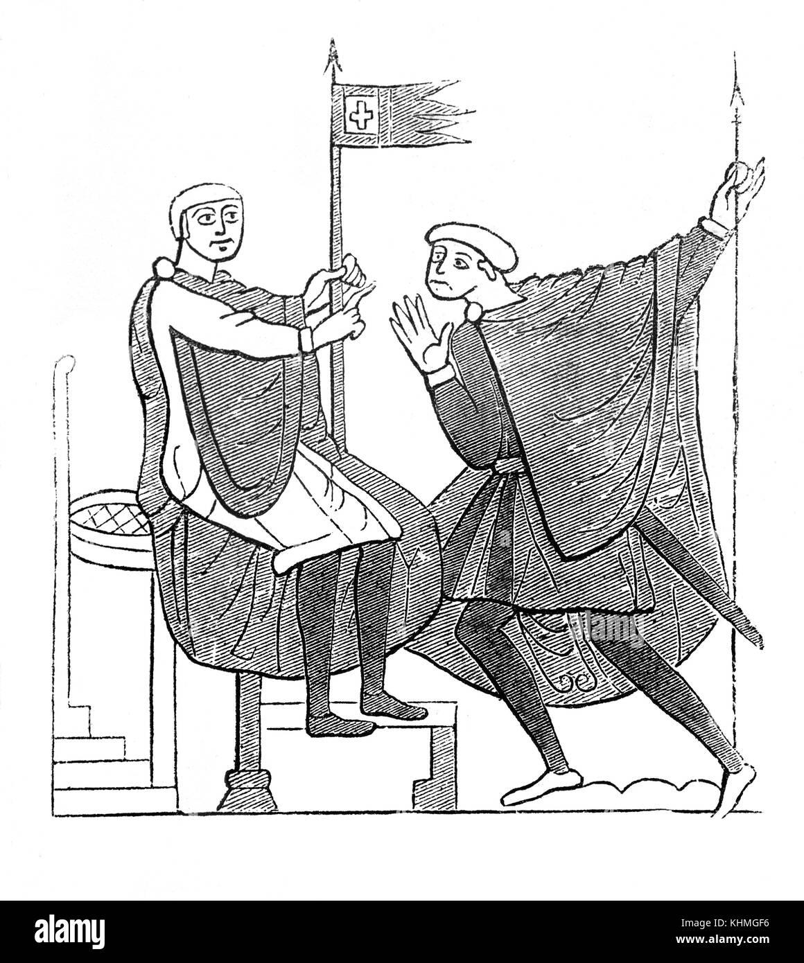Medieval England Flag Battle Stock Photos & Medieval England Flag ...