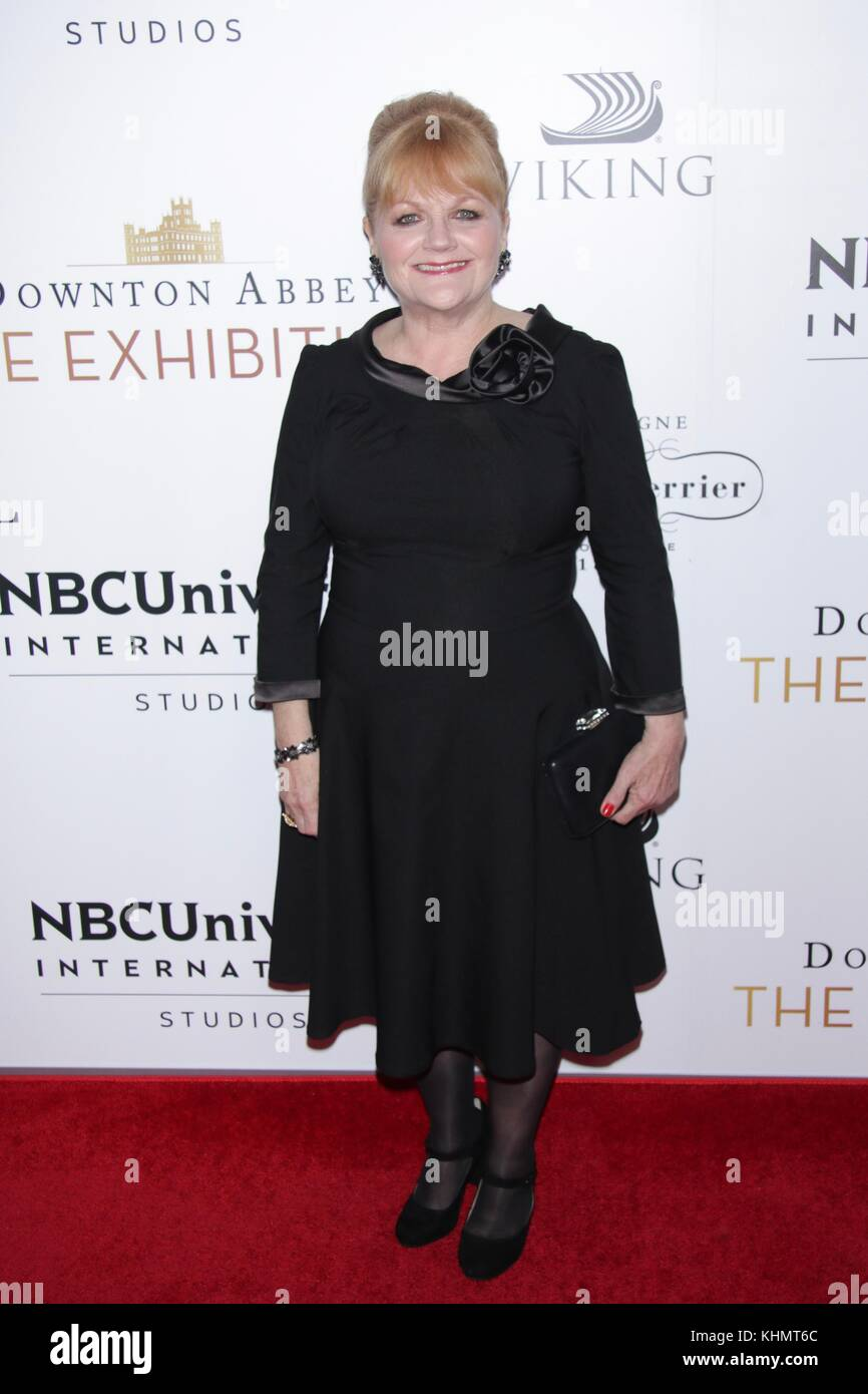 New York, NY, USA. 17th Nov, 2017. Lesley Nicol at Downtown Abbey: The Exhibition VIP Opening on November 17, 2017 - Stock Image