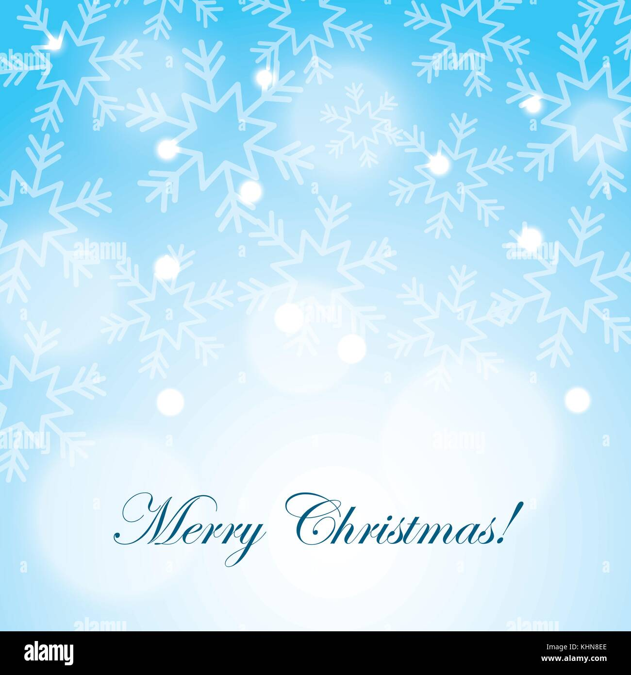 merry christmas snow snowflake blurred background - Stock Vector