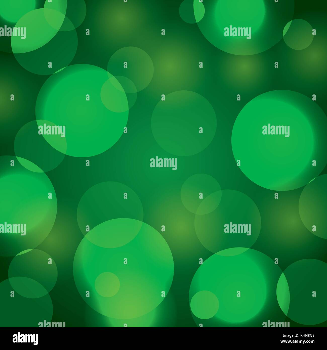 elegant christmas background with green abstract lights - Stock Image