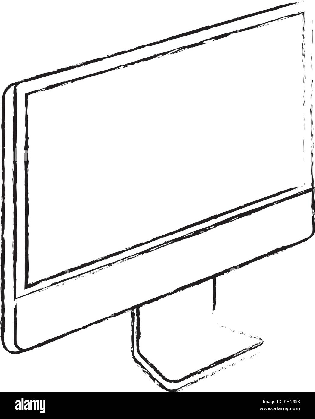 monitor computer technology device screen - Stock Image
