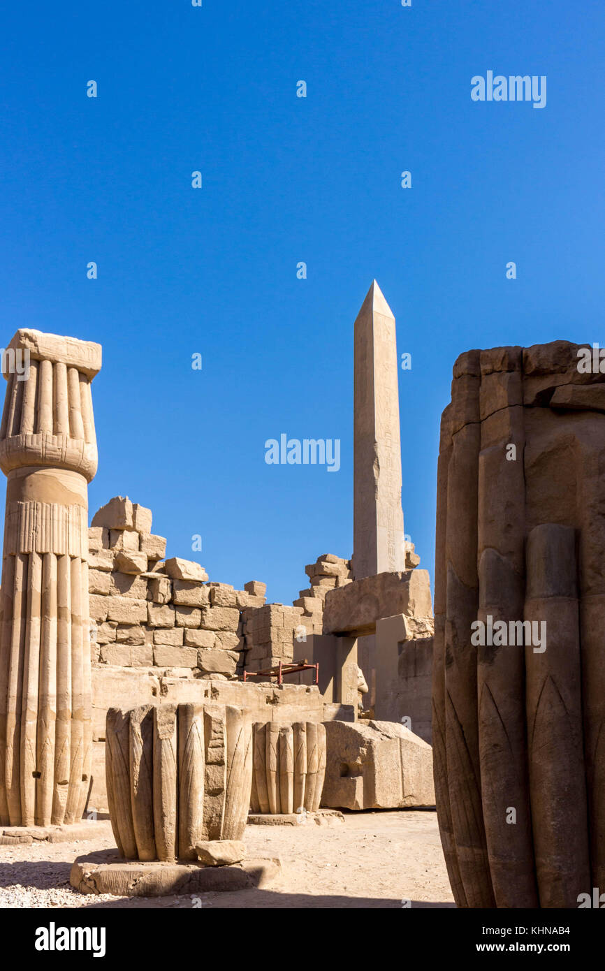 Egypt Temple in Luxor, Karnak, Edfu and Komombo - Stock Image