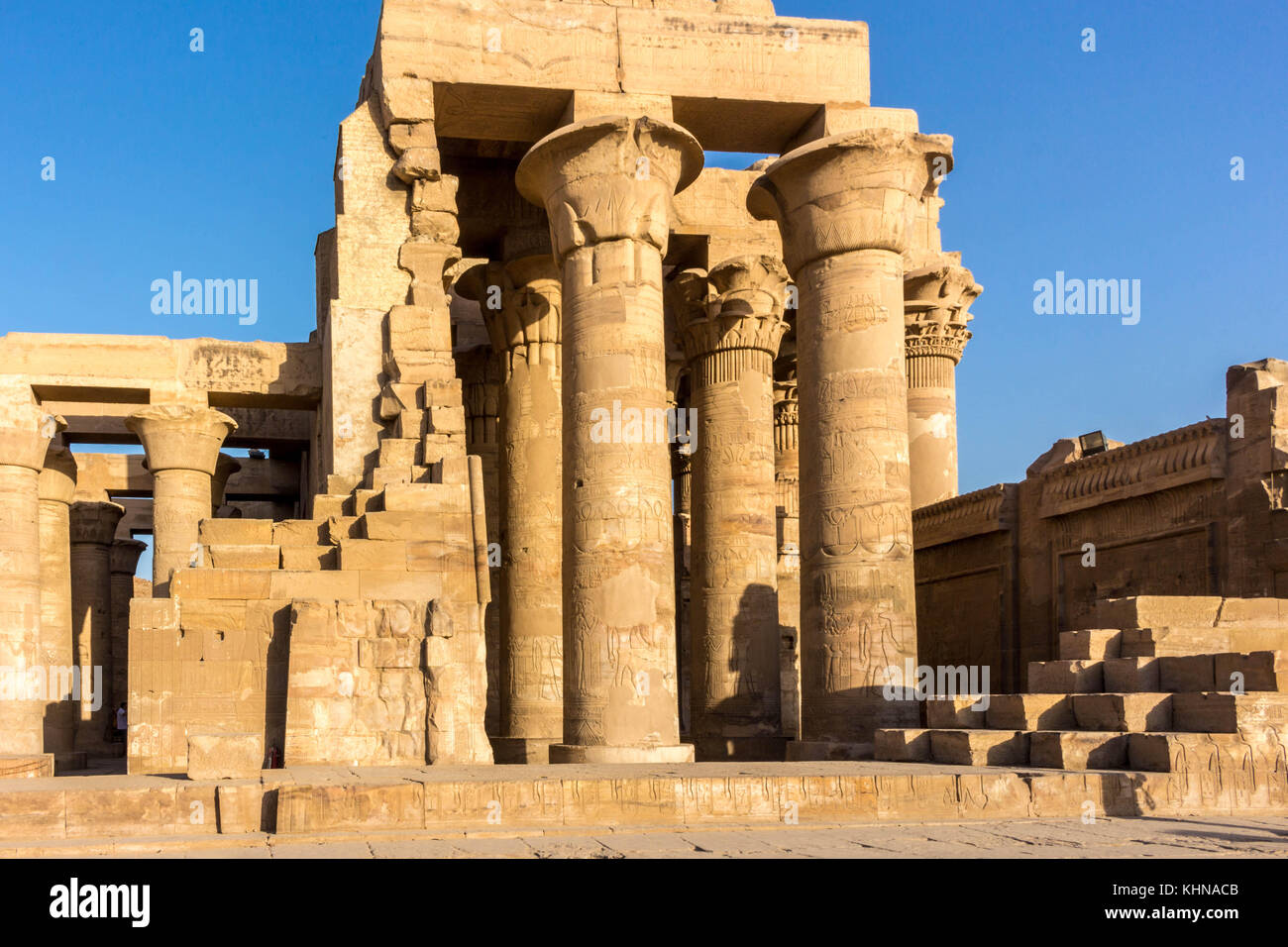 Egypt Temple in Luxor, Karnak, Edfu and Komombo - Stock Image