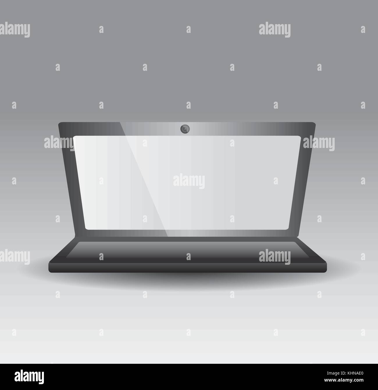 opened laptop personal computer gadget technology - Stock Image