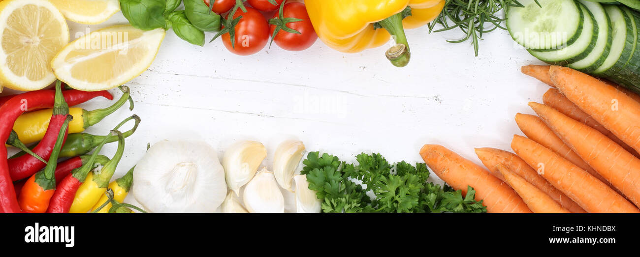 Vegetables Collection Tomatoes Carrots Cooking Ingredients Banner Stock Photo Alamy