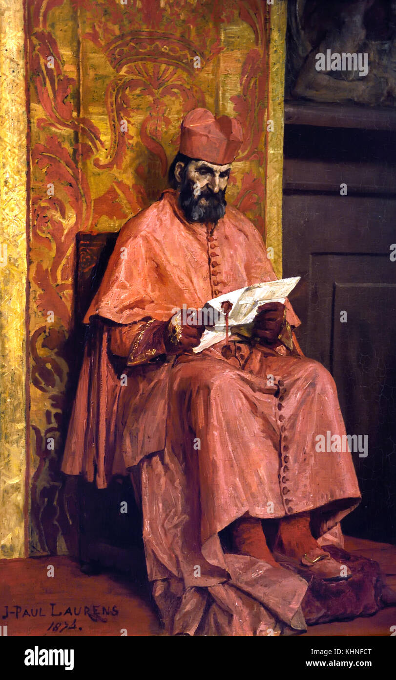 Le Cardinal - The Cardinal 1874 Jean Paul Laurens 1838-1921 France, French. - Stock Image