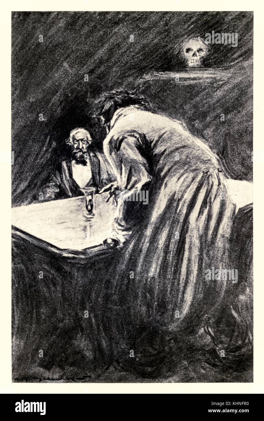 'Will you suffer me to take this glass in my hand' from the 'Strange Case of Dr Jekyll and Mr Hyde' by Robert Louis - Stock Image