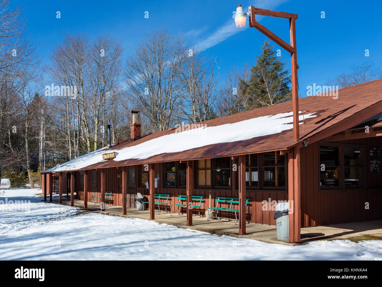Trading post at Blackwater Falls State Park, Allegheny Mountains, West Virginia, USA - Stock Image