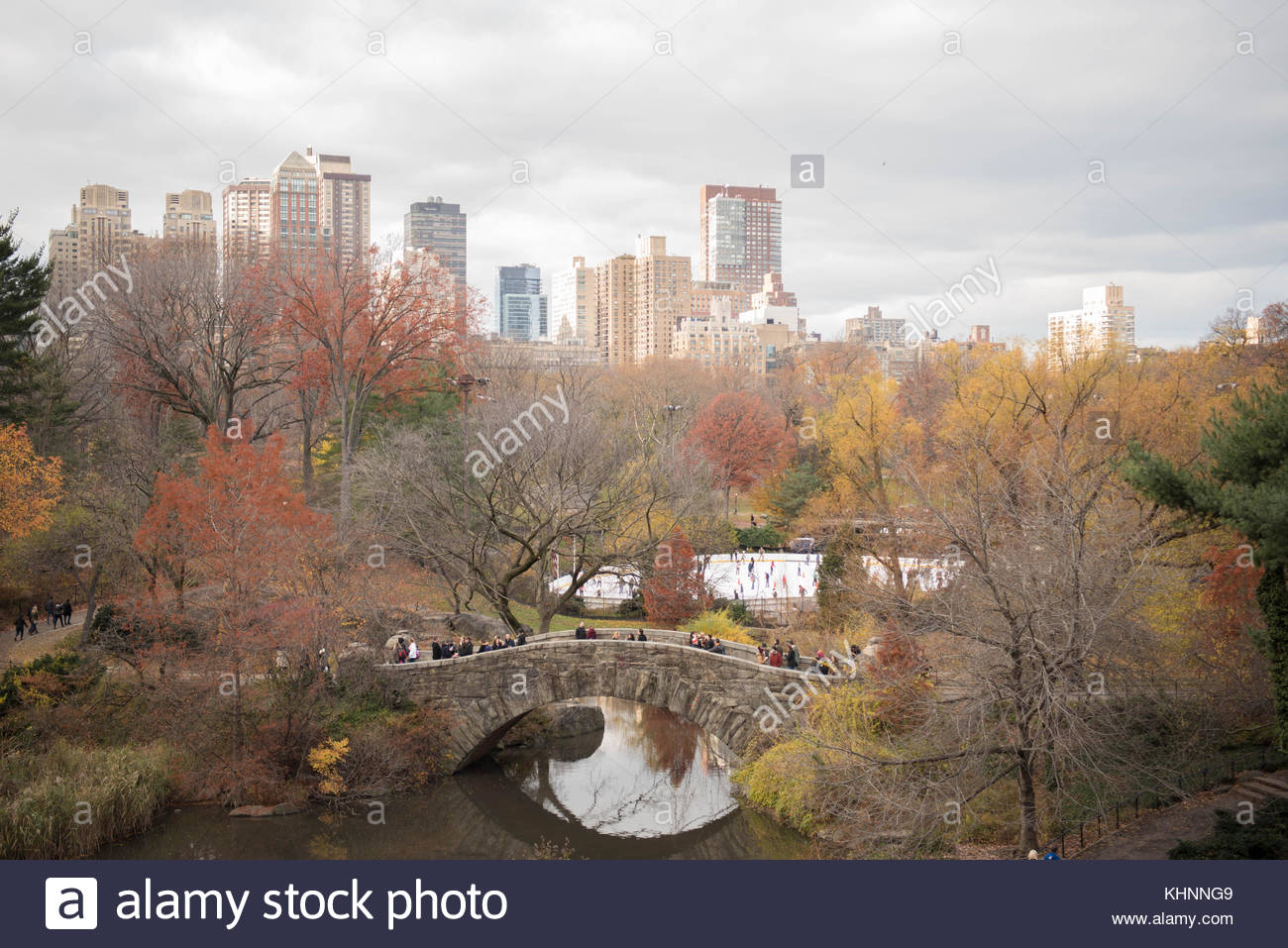 The Gapstow Bridge in Central Park, Manhattan, New York, USA - Stock Image