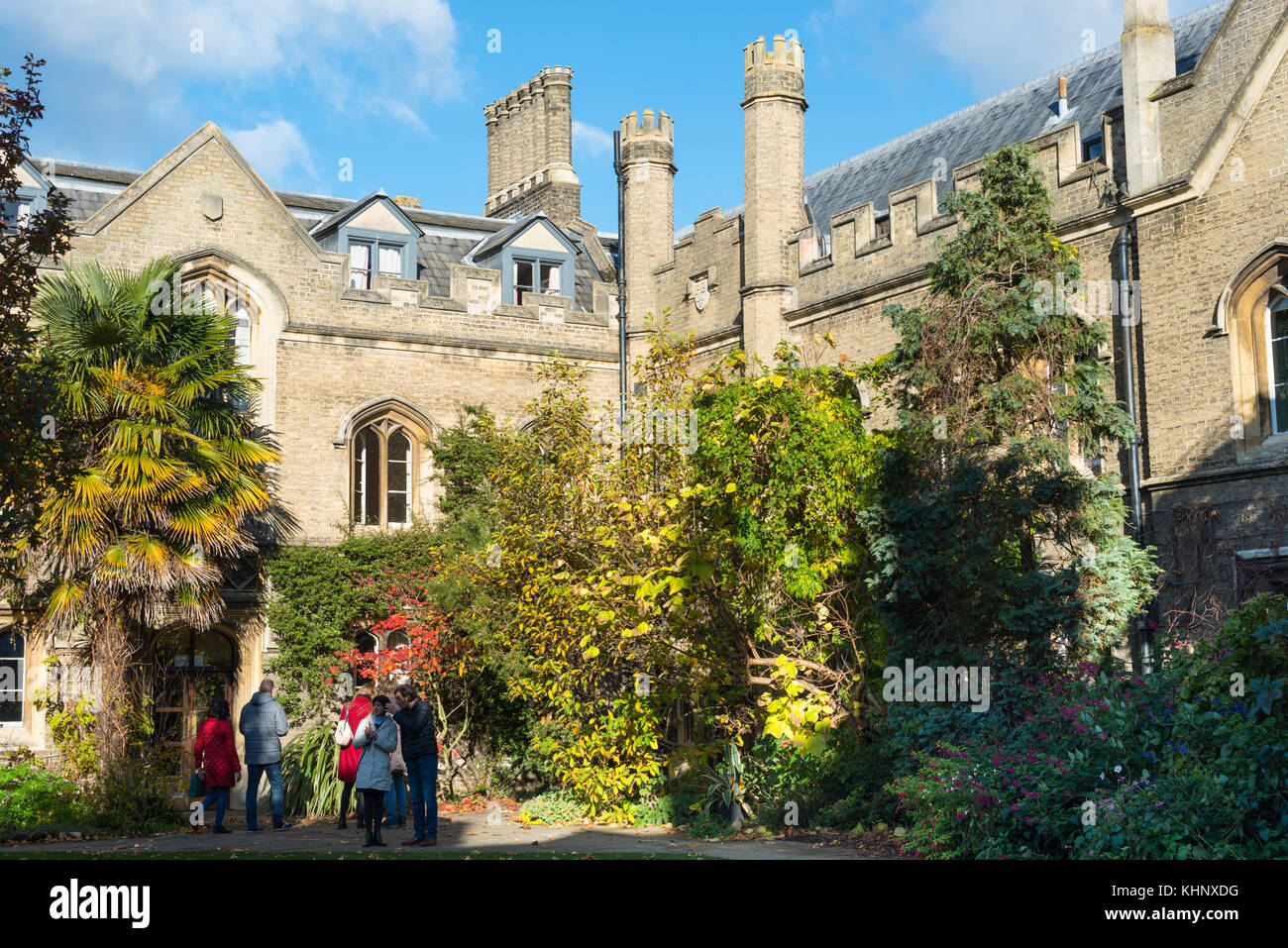 Gisborne Court at Peterhouse College, the oldest college of Cambridge University. Cambridgeshire, England, UK. - Stock Image
