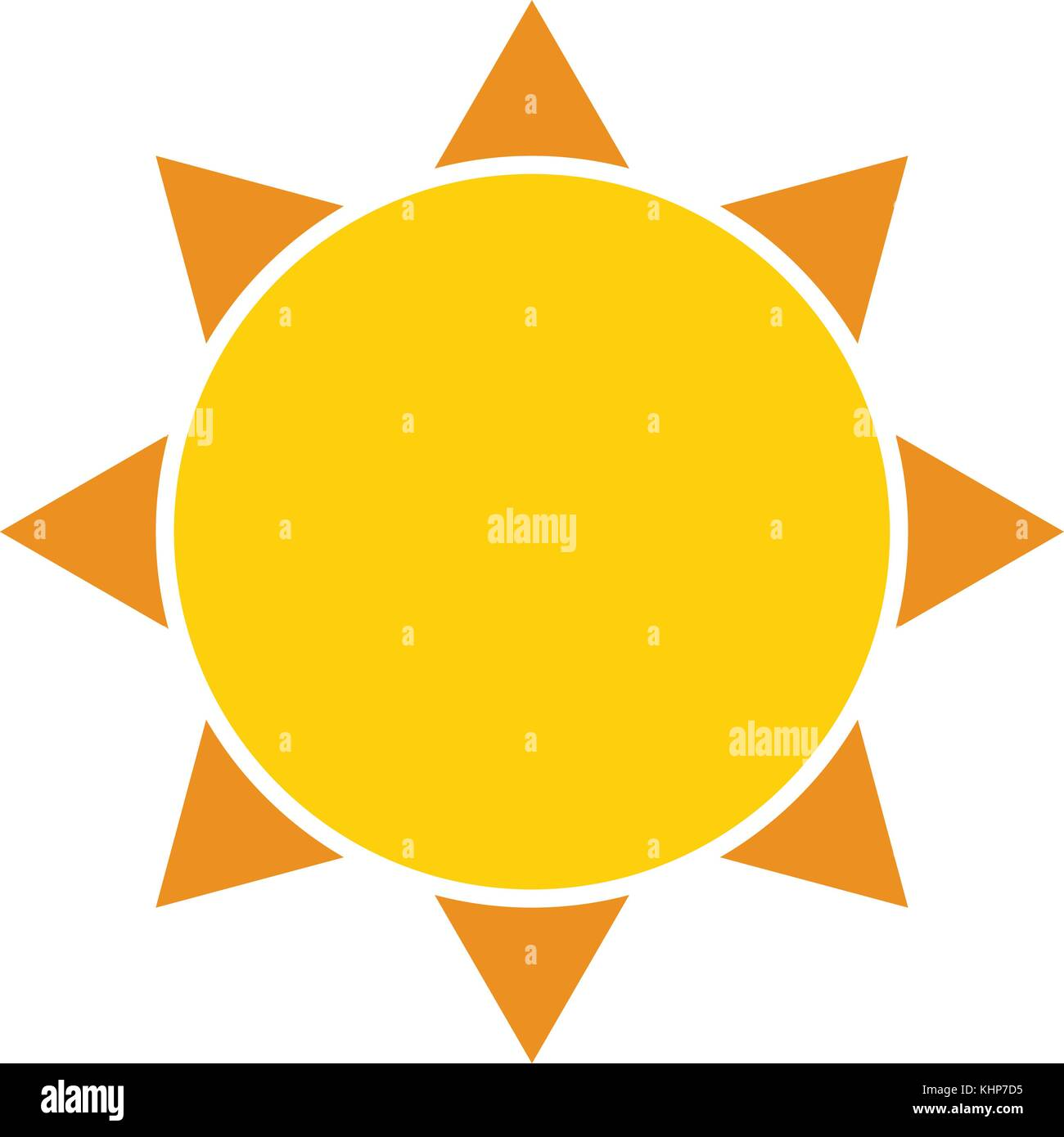 A stylised graphic of the sun for use as a logo - Stock Vector
