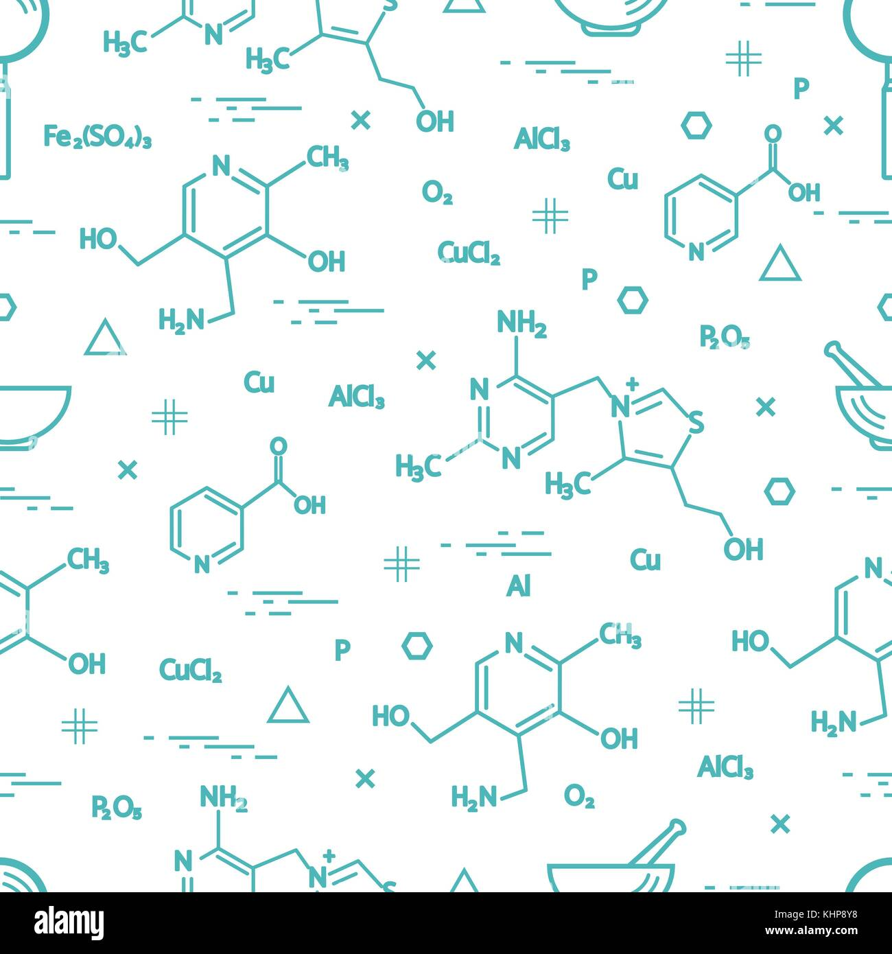 Seamless pattern with scientific, education elements