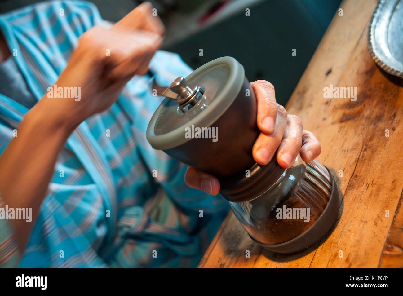 HARIO Hand Coffee Mill - Stock Image