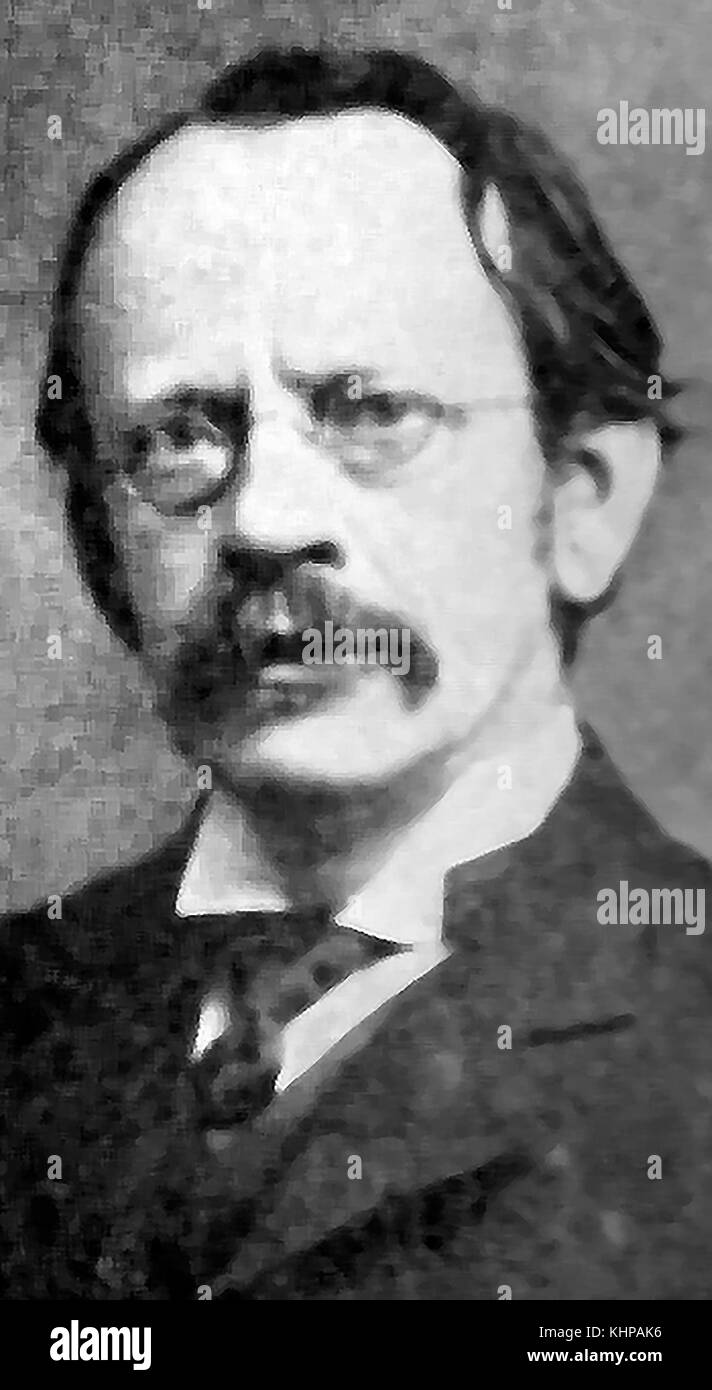 A portrait of Sir J J Thomson, English physicist and Nobel laureate in physics (1906 Nobel Prize in Physics) and Stock Photo