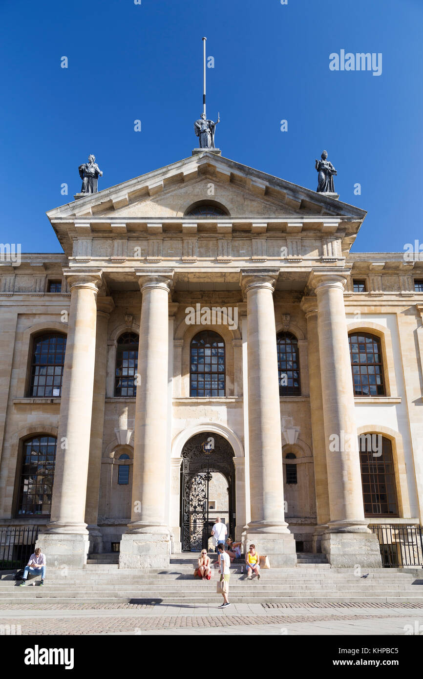 UK, Oxford, the Clarendon buildling - now part of the Bodleian Library used for offices and meeting space for senior - Stock Image