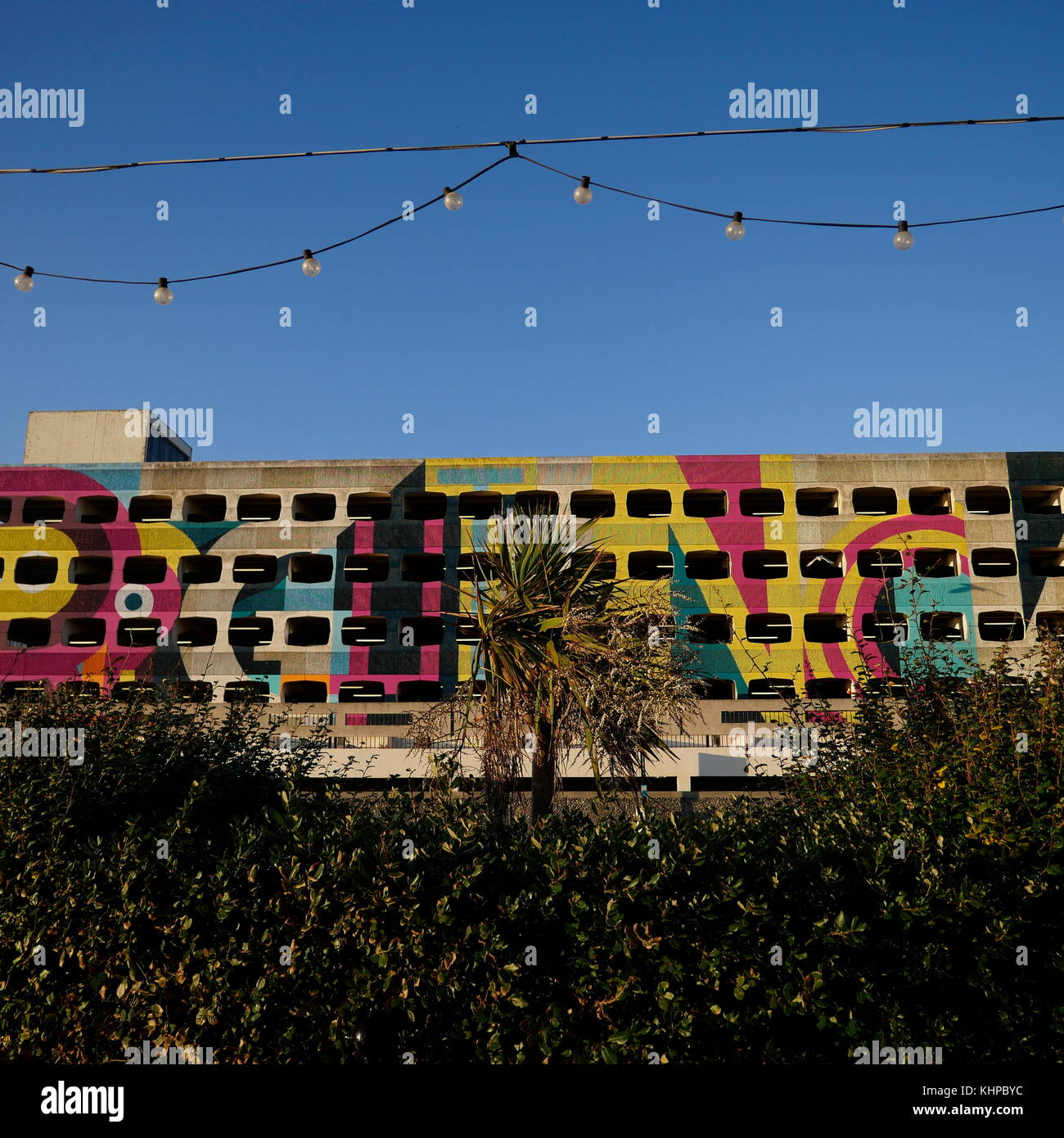 AJAXNETPHOTO. 2017. WORTHING, ENGLAND - SPACE SAVER - THE REPAINTED GRAFTON STREET MULTI STORY CAR PARK IN THE TOWN - Stock Image